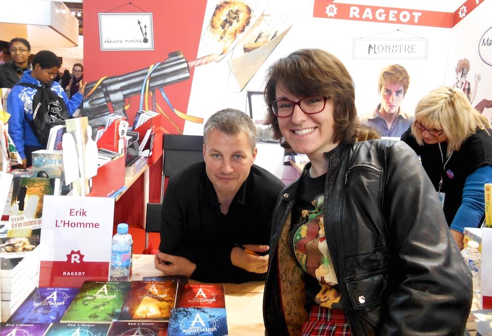 erik l'homme et mademoiselle cordélia au salon du livre 2014