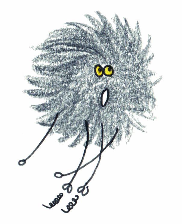 Le petit monstre du noir, illustration par Blandine Rivière - la poule qui pond