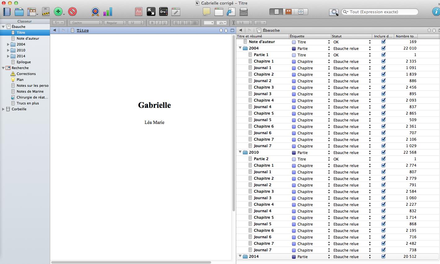 j'ai terminé le premier jet de mon roman