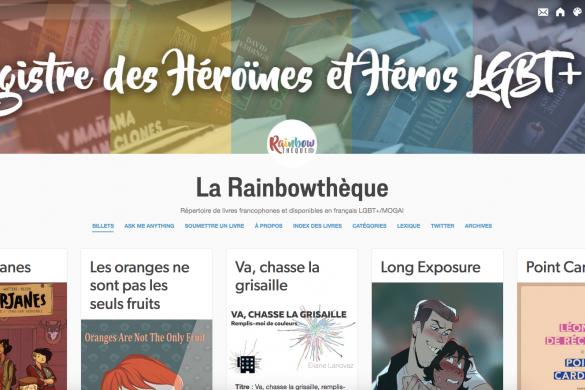 Capture écran de la rainbowthèque