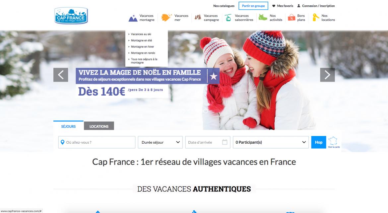 Page d'accueil de Cap France