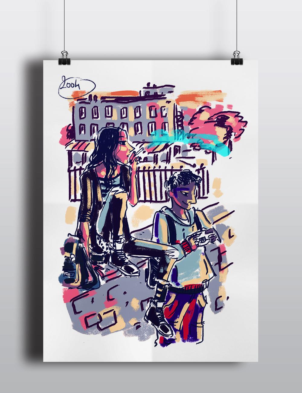 Poster Mon Amie Gabrielle