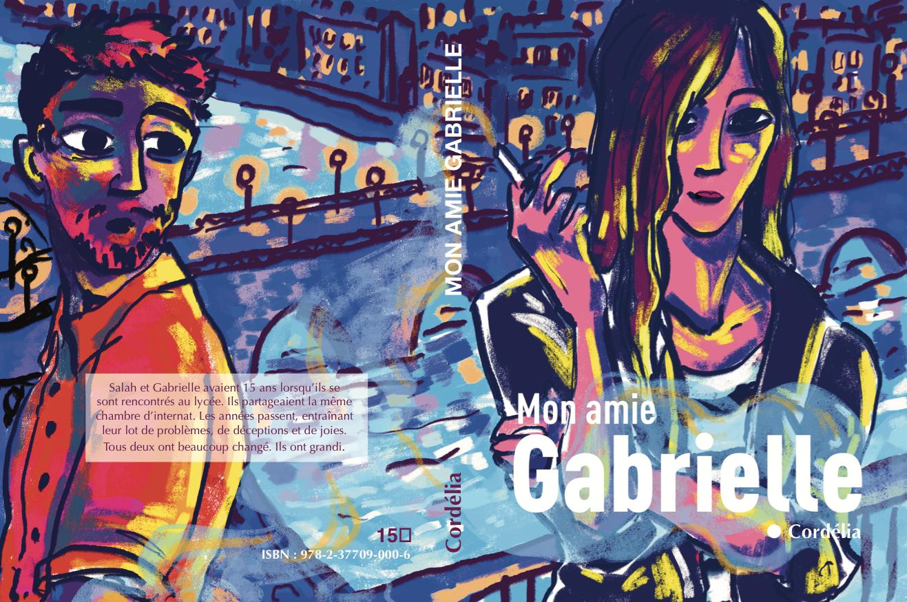 couverture à plat du roman Mon Amie Gabrielle, auto-éditer un roman